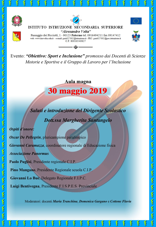 """Evento """"Obiettivo Sport e Inclusione"""""""