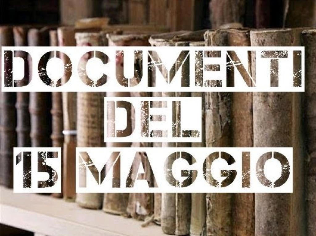 Documenti 15 Maggio 2020